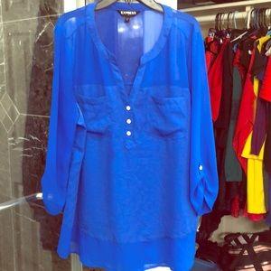 Express long tunic blouse